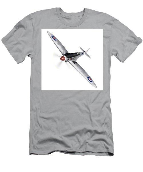 Silver Spitfire Pr Xix Cutout Men's T-Shirt (Athletic Fit)