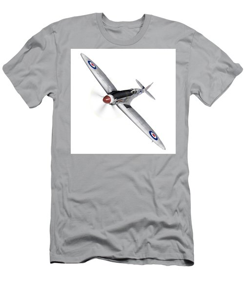 Silver Spitfire Pr Xix Cutout Men's T-Shirt (Athletic Fit)