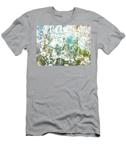 Silver Trashed Cans Painting Over Photo Men's T-Shirt (Athletic Fit)
