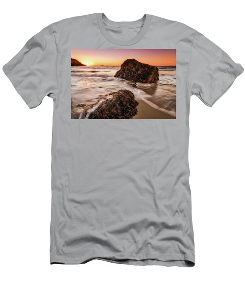 Men's T-Shirt (Athletic Fit) featuring the photograph Singing Water, Singing Beach by Michael Hubley