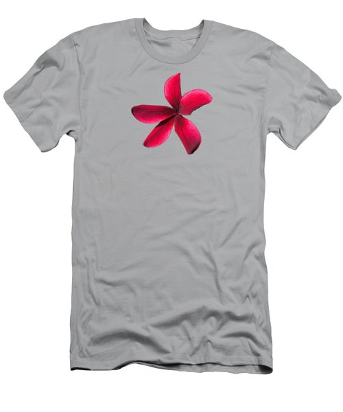 Single Red Plumeria Men's T-Shirt (Athletic Fit)