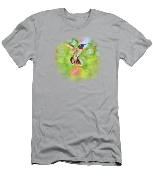 Sir Ruby Throat - Hummingbird Men's T-Shirt (Athletic Fit)
