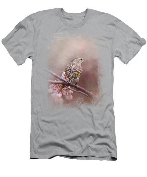 Siskin In The Garden Men's T-Shirt (Slim Fit) by Jai Johnson
