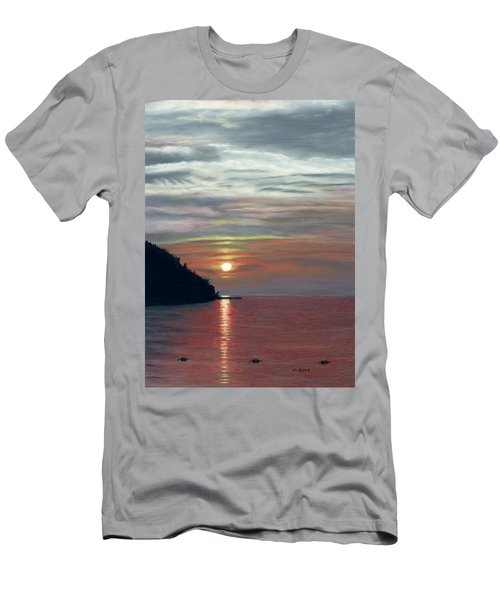 Sister Bay Sunset Men's T-Shirt (Athletic Fit)