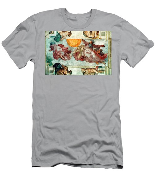 Sistine Chapel Ceiling Creation Of The Sun And Moon Men's T-Shirt (Athletic Fit)