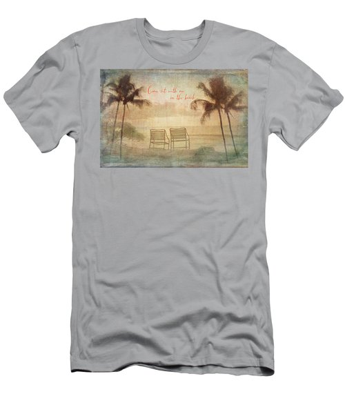 Sit With Me On The Beach Men's T-Shirt (Athletic Fit)