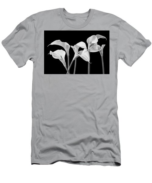 Six Calla Lilies In Black And White Men's T-Shirt (Athletic Fit)