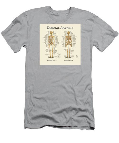 Men's T-Shirt (Slim Fit) featuring the digital art Skeletal Anatomy by Gina Dsgn