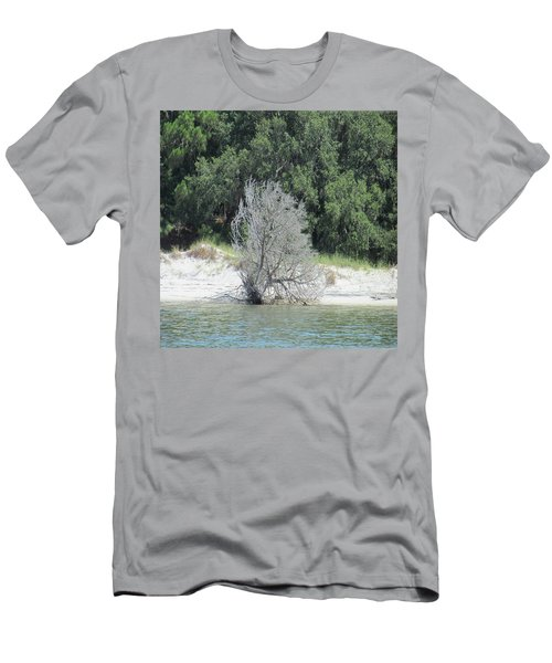 Skeleton Tree On The Beach Men's T-Shirt (Athletic Fit)