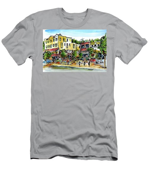 Men's T-Shirt (Slim Fit) featuring the painting Sketch Crawl In Truckee by Terry Banderas