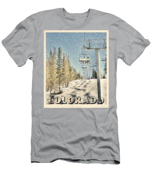 Ski Colorado Men's T-Shirt (Slim Fit) by Juli Scalzi