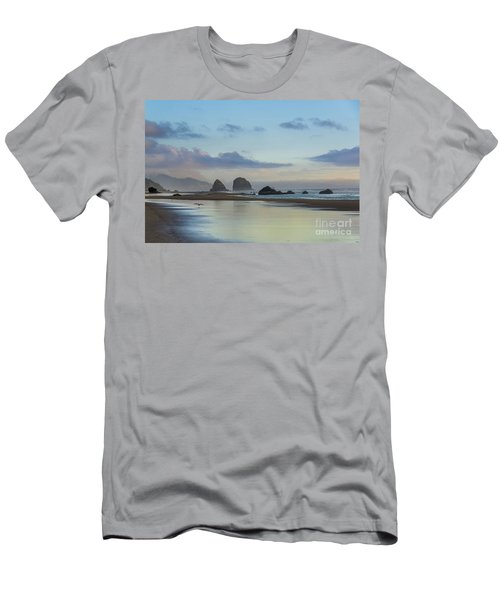 Skimming Along The Beach At Sunset Men's T-Shirt (Athletic Fit)