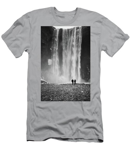 Skogafoss Men's T-Shirt (Athletic Fit)