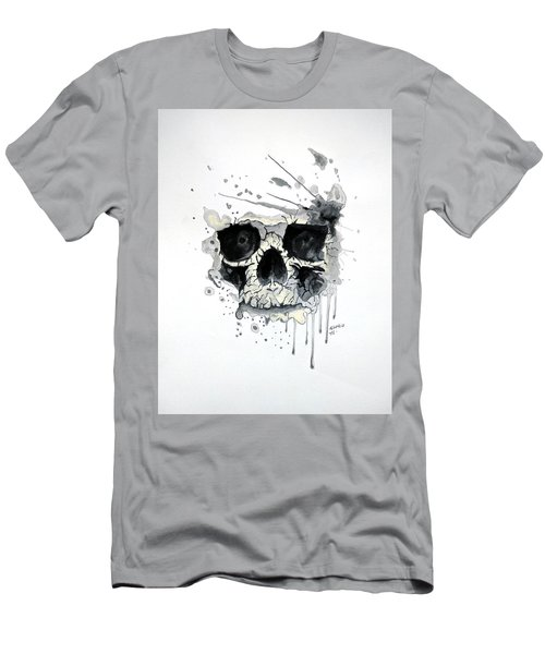 Men's T-Shirt (Slim Fit) featuring the painting Skull by Edwin Alverio