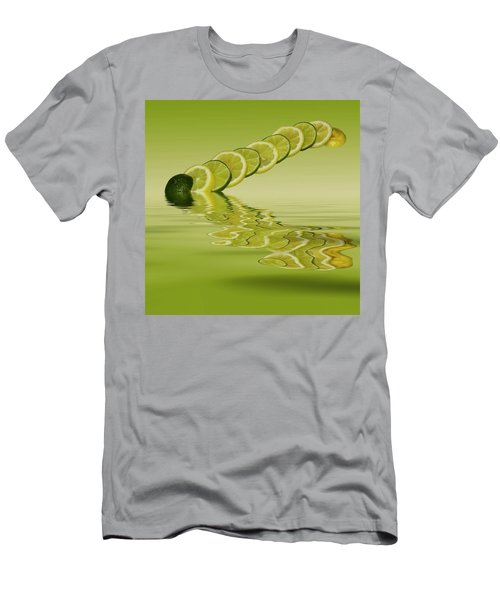 Men's T-Shirt (Slim Fit) featuring the photograph Slices Lemon Lime Citrus Fruit by David French