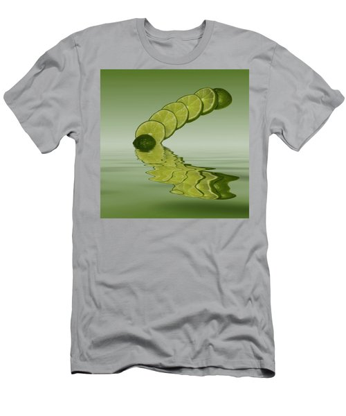 Men's T-Shirt (Slim Fit) featuring the photograph Slices Lime Citrus Fruit by David French