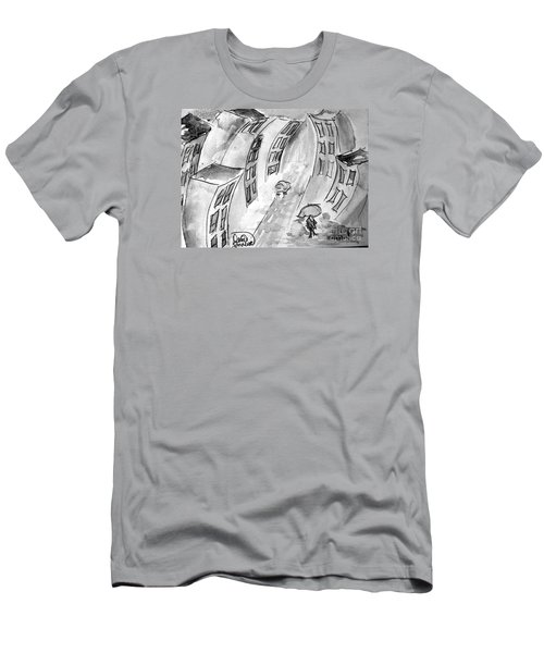 Men's T-Shirt (Slim Fit) featuring the painting Slick City by Denise Tomasura