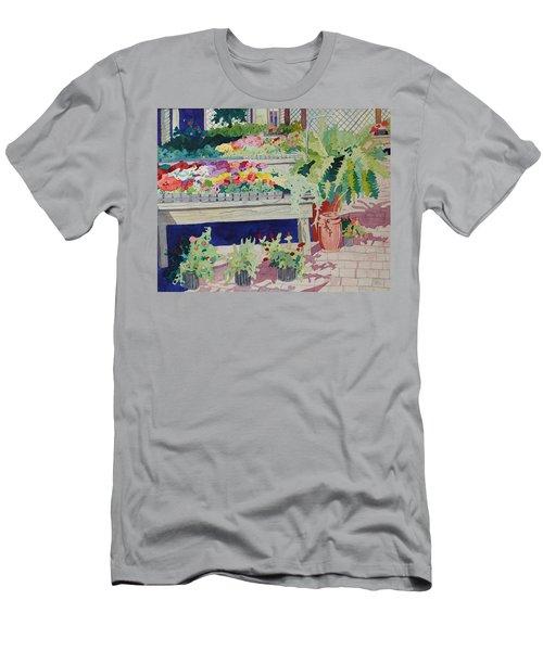 Small Garden Scene Men's T-Shirt (Athletic Fit)