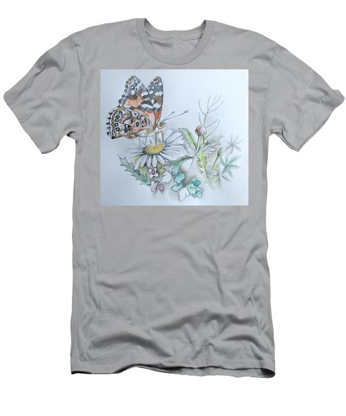Men's T-Shirt (Athletic Fit) featuring the drawing Small Pleasures by Rose Legge