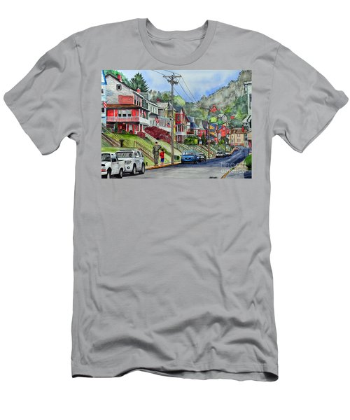 Small Town, America Men's T-Shirt (Athletic Fit)