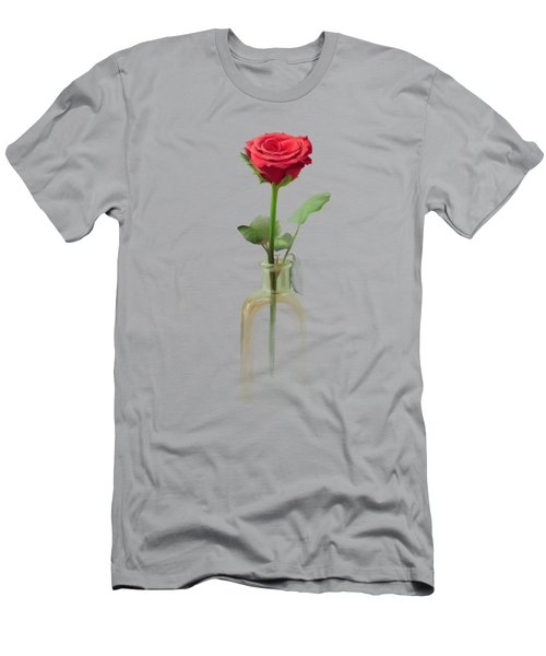 Men's T-Shirt (Athletic Fit) featuring the painting Smell The Rose by Ivana Westin