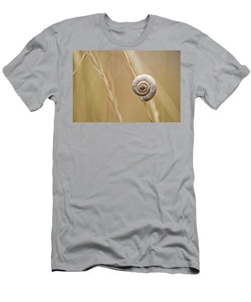 Snail On Autum Grass Blade Men's T-Shirt (Athletic Fit)