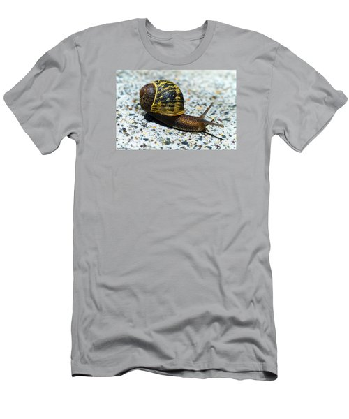 Men's T-Shirt (Slim Fit) featuring the photograph Snailing Alone 01 by Kevin Chippindall