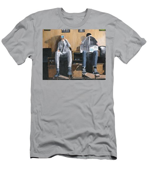 Men's T-Shirt (Slim Fit) featuring the painting Sneakers Need Polishing Too by Stuart B Yaeger
