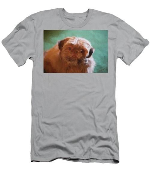Men's T-Shirt (Athletic Fit) featuring the painting Snicker Doodle 852 -  Painting by Ericamaxine Price