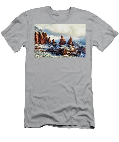 Snow 04-002 Men's T-Shirt (Slim Fit) by Scott McAllister