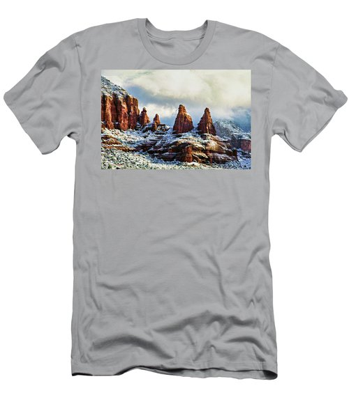 Snow 04-002 Men's T-Shirt (Athletic Fit)