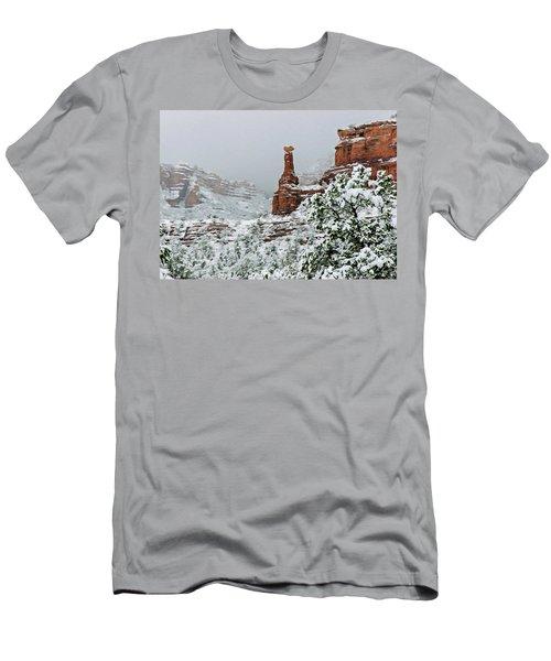 Snow 06-027 Men's T-Shirt (Slim Fit) by Scott McAllister