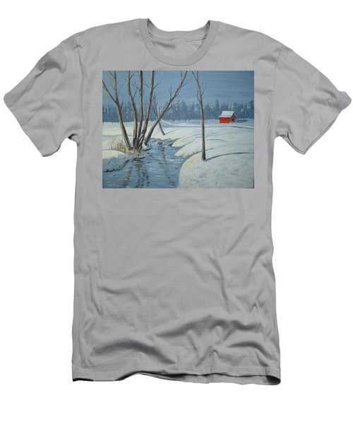 Snow Barn Men's T-Shirt (Athletic Fit)