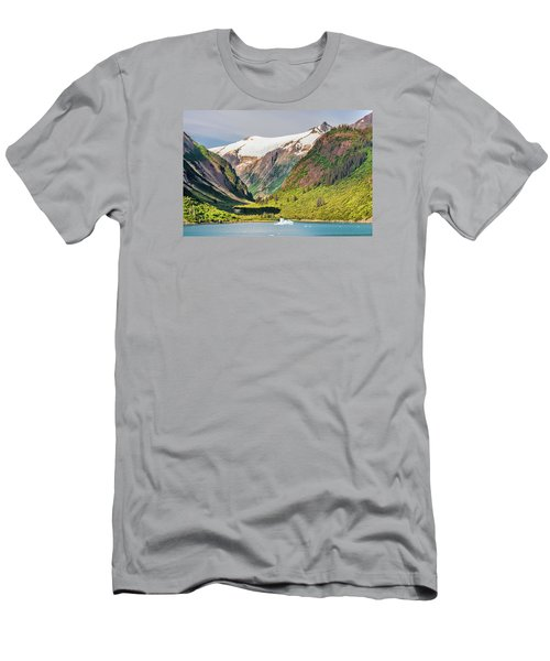 Men's T-Shirt (Slim Fit) featuring the photograph Snow Capped by Lewis Mann