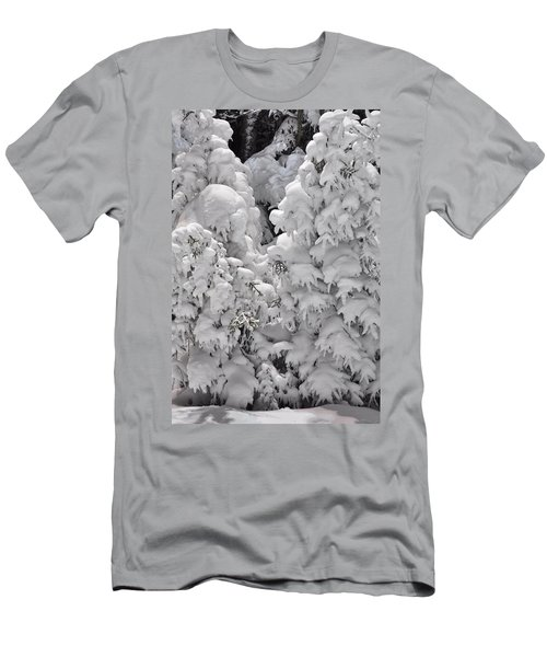 Men's T-Shirt (Slim Fit) featuring the photograph Snow Coat by Alex Grichenko