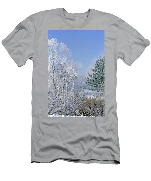 2a357 Snow Covered Trees At Alum Creek State Park Men's T-Shirt (Athletic Fit)