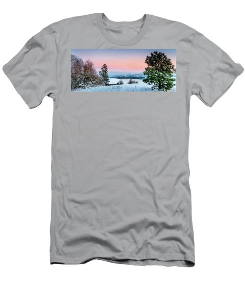 Snow Covered Valley Men's T-Shirt (Athletic Fit)
