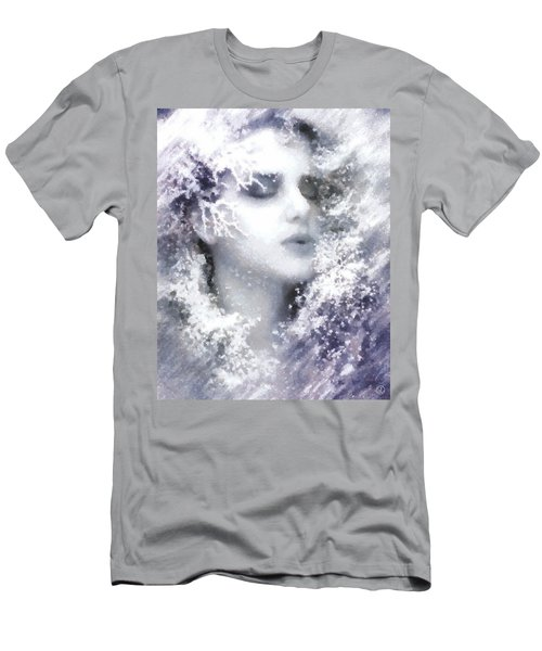Men's T-Shirt (Slim Fit) featuring the digital art Snow Fairy  by Gun Legler