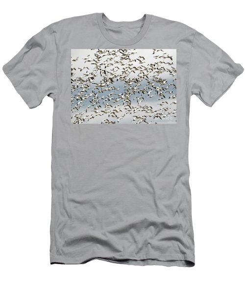 Men's T-Shirt (Slim Fit) featuring the photograph Snow Goose Storm by Mike Dawson
