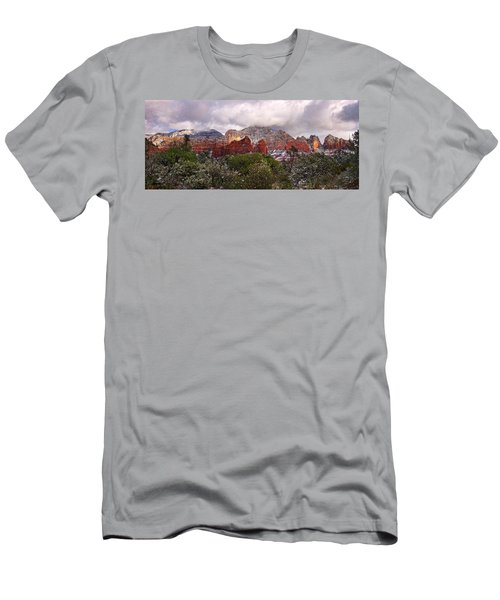 Snow In Heaven Panorama Men's T-Shirt (Athletic Fit)