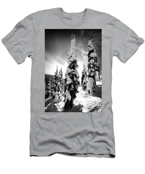 Snow Laden Tree Men's T-Shirt (Athletic Fit)
