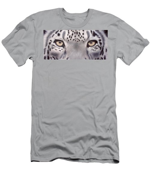 Snow Leopard Eyes Painting Men's T-Shirt (Athletic Fit)