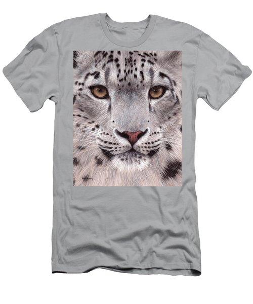 Snow Leopard Face Men's T-Shirt (Athletic Fit)