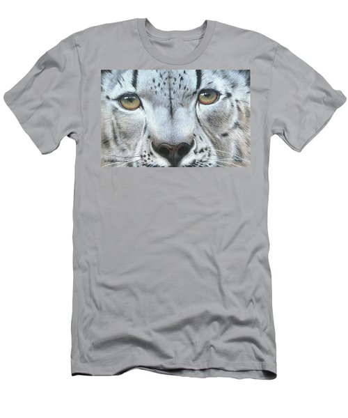 Men's T-Shirt (Slim Fit) featuring the painting Snow Leopard by Mike Brown