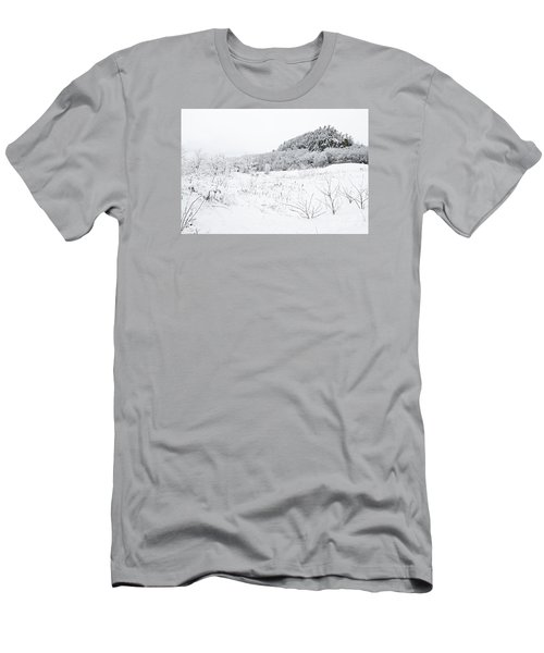 Men's T-Shirt (Slim Fit) featuring the photograph Snow Scene by Larry Ricker