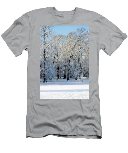 Men's T-Shirt (Athletic Fit) featuring the photograph Snow Scene One by Donna Bentley