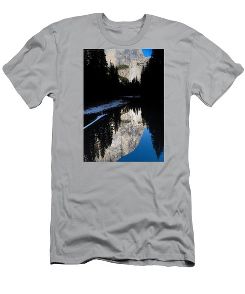 Men's T-Shirt (Slim Fit) featuring the photograph Snow Sneaks In by Lora Lee Chapman