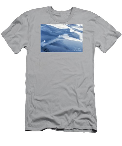 Men's T-Shirt (Athletic Fit) featuring the photograph Snowdrift Structure by Angela DeFrias