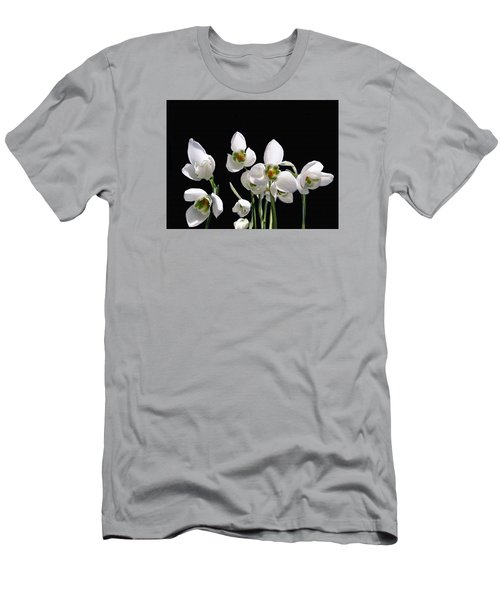 Snowdrop Flowers Men's T-Shirt (Athletic Fit)