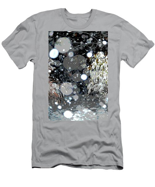 Men's T-Shirt (Slim Fit) featuring the photograph Snowfall Deconstructed by Li Newton